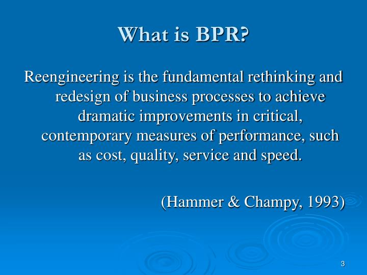 debating the four approaches to bpr essay Business process reengineering (bpr) is usually done to identify and eliminate the organizational barriers impeding the flow of processes to create drastic two early proponents of bpr are michael hammer & james champy, who published a book, reengineering the corporation in the 90s.