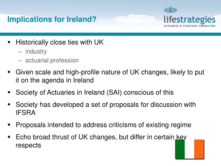 Implications for Ireland?