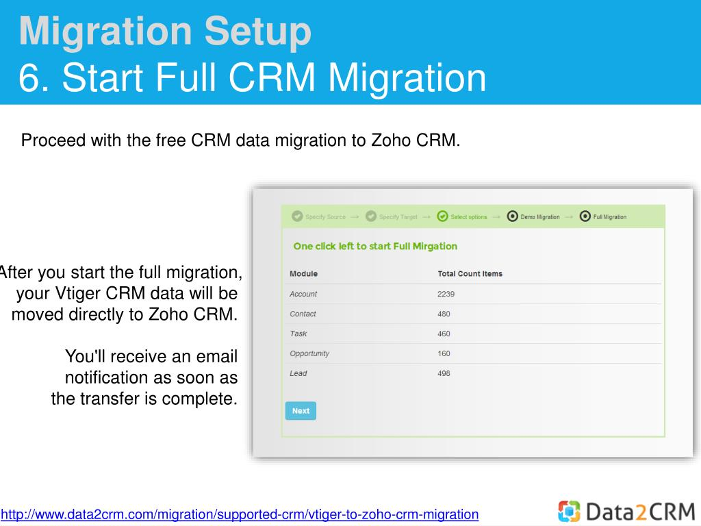 PPT - How to Move Vtiger to Zoho CRM with Ease PowerPoint