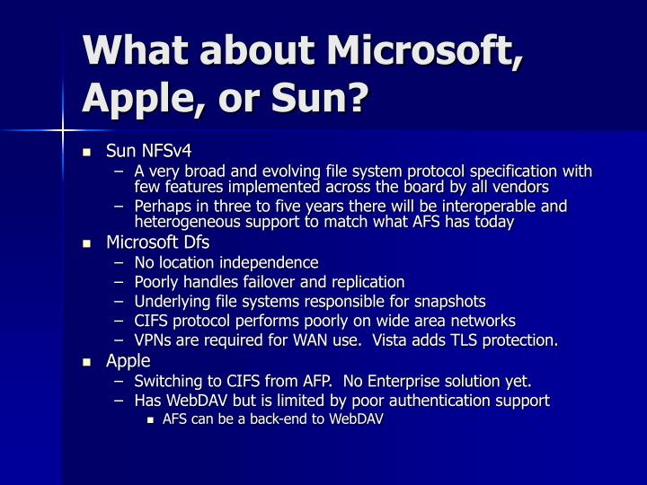 What about Microsoft, Apple, or Sun?