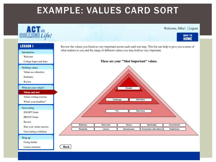 Example: Values Card Sort