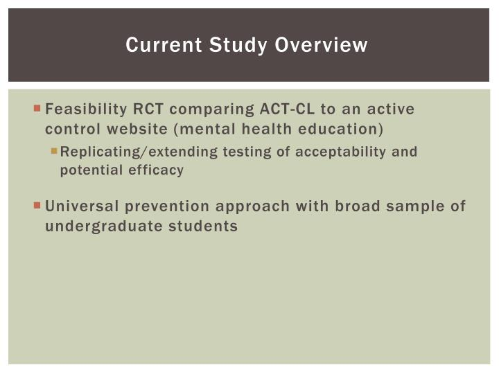Current Study Overview