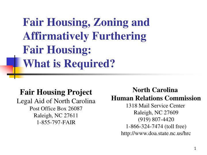 fair housing zoning and affirmatively furthering fair housing what is required