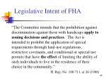 legislative intent of fha