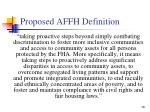 proposed affh definition