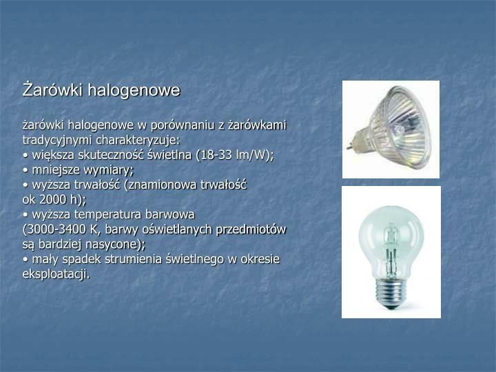 Żarówki halogenowe