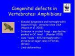 congenital defects in vertebrates amphibians