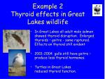 example 2 thyroid effects in great lakes wildlife