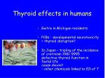 thyroid effects in humans