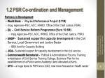 1 2 psr co ordination and management