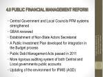 4 0 public financial management reform
