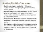 key benefits of the programme