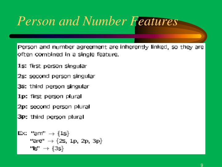 Person and Number Features