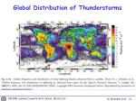 global distribution of thunderstorms