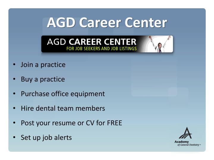 AGD Career Center