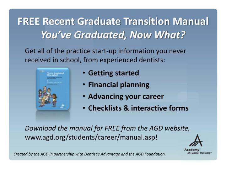 FREE Recent Graduate Transition Manual