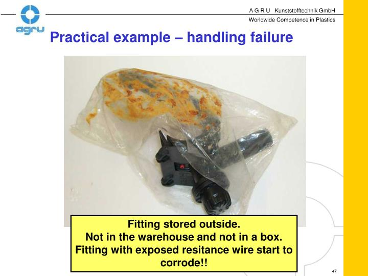 Practical example – handling failure
