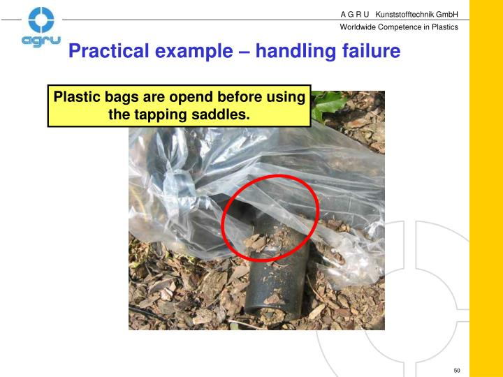 Plastic bags are opend before using