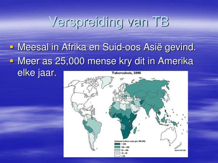 Verspreiding van TB