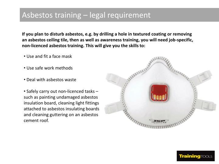 Asbestos training – legal requirement