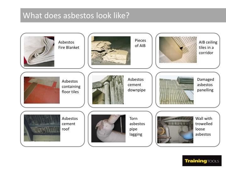 What does asbestos look like?