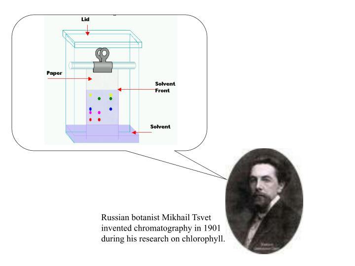 Russian botanist Mikhail Tsvet