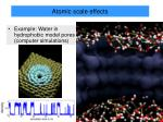 atomic scale effects