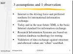 3 assumptions and 1 observation