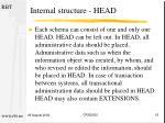 internal structure head