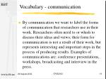 vocabulary communication