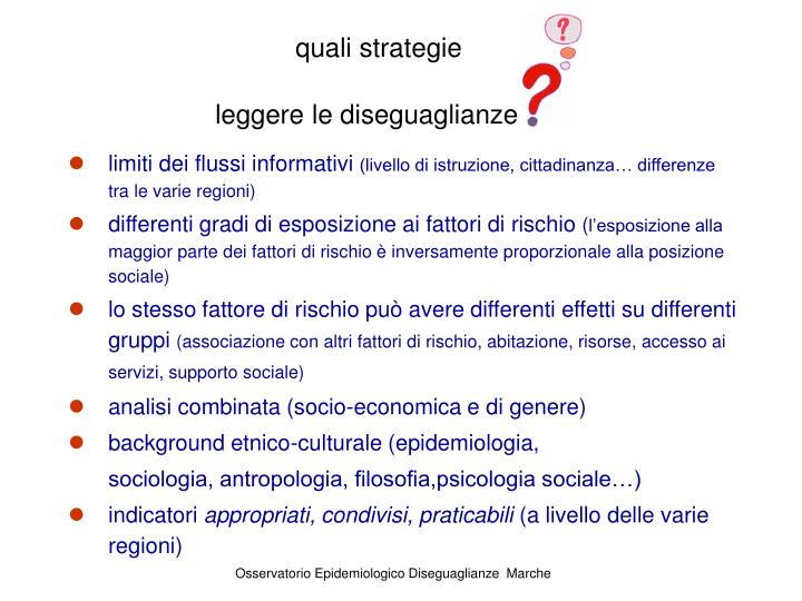 quali strategie