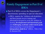 family engagement in part d of idea