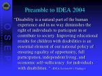 preamble to idea 2004