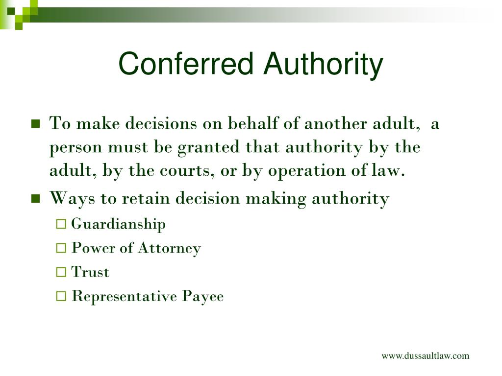 PPT - Options in Decision Making Authority PowerPoint