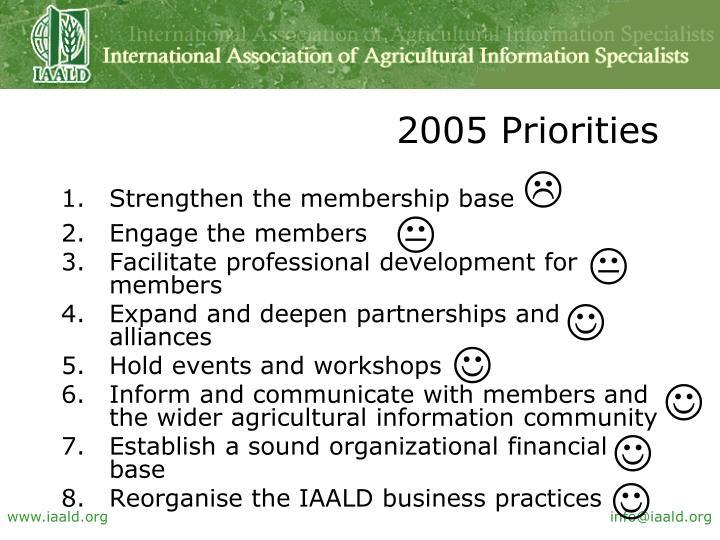 2005 Priorities