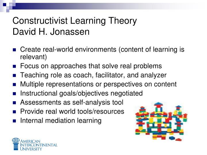 Constructivist learning theory david h jonassen