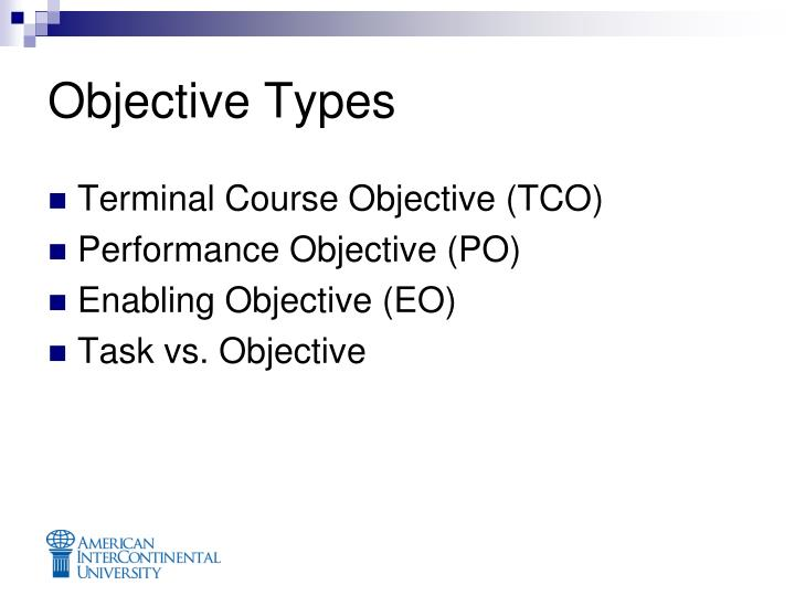 Objective Types