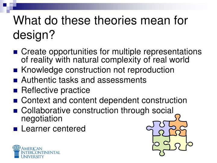 What do these theories mean for design?