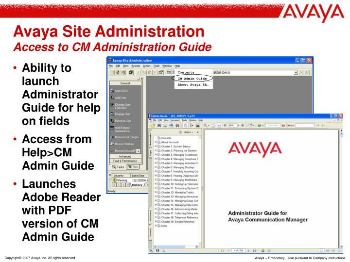 ppt avaya site administration 4 0 voice announcement manager 4 0 rh slideserve com avaya site administration user guide avaya site administration guide pdf