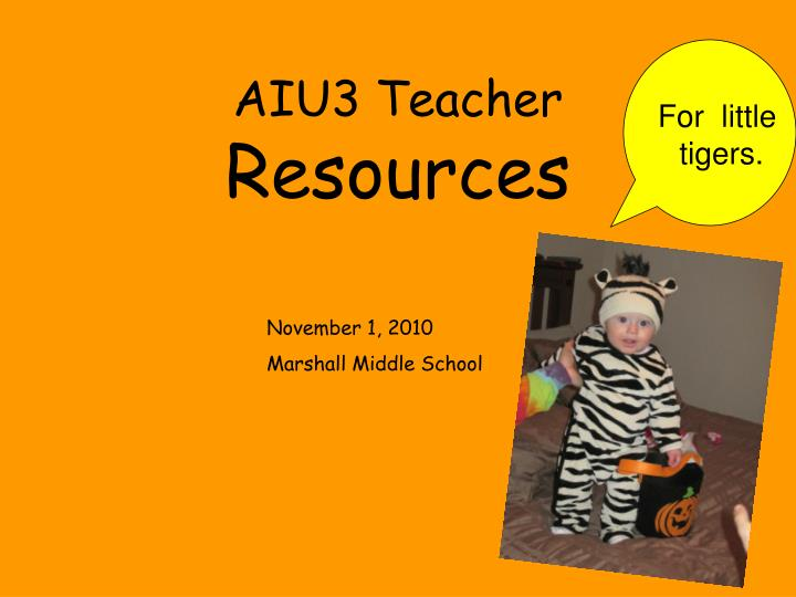Aiu3 teacher resources