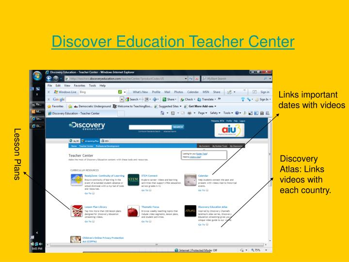 Discover Education Teacher Center