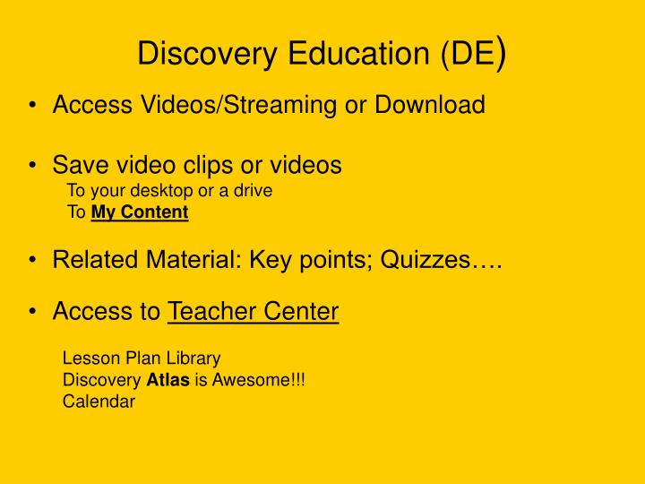 Discovery Education (DE