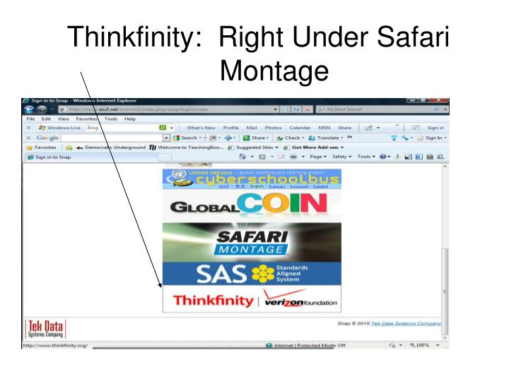 Thinkfinity:  Right Under Safari
