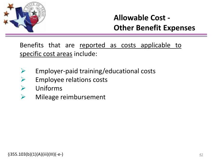 Allowable Cost -
