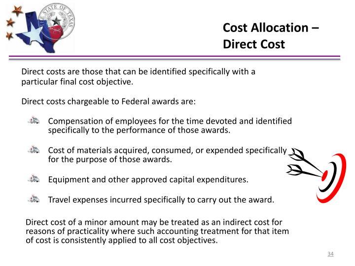 Cost Allocation – Direct Cost
