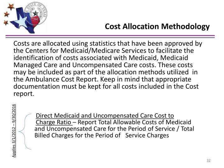 Cost Allocation Methodology
