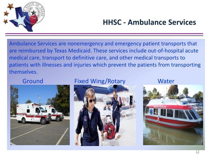 HHSC - Ambulance Services