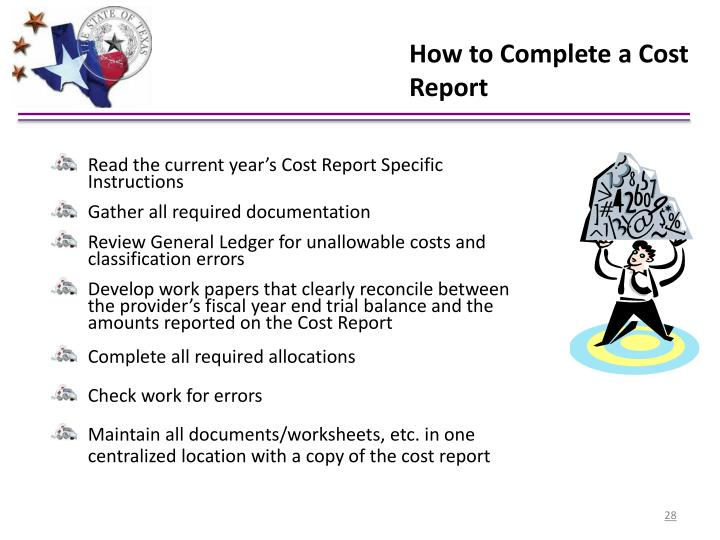 How to Complete a Cost Report