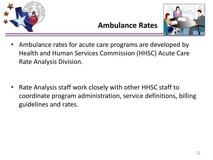 Ambulance Rates