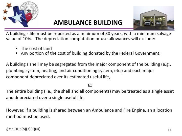 AMBULANCE BUILDING